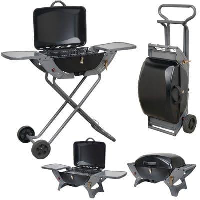 Barbecue à gaz Combo pliable portable avec roulettes