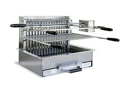 Barbecue grillade à charbon en inox Mèze